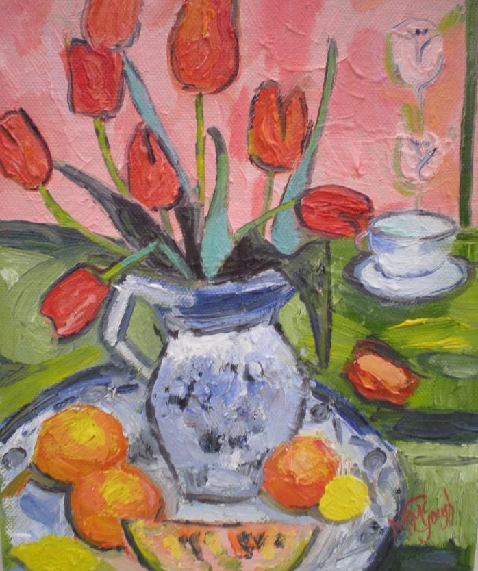 Vase of tulips mcgoughart floridaeventfo Gallery